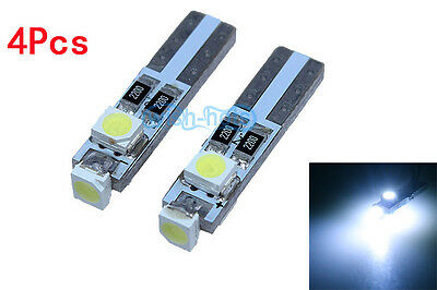 4Pcs White Error Free LED Rear console Footwell light bulbs For BMW E92 coupe