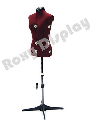 Female Mannequin Adjustable Sewing Dress Form Torso Stand Medium Size #JF-FH-8