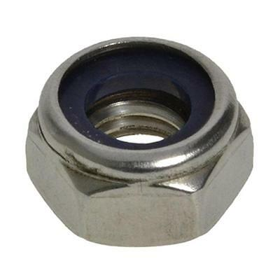Qty 50 Hex Nyloc Nut M8 (8mm) Marine Grade Stainless Steel SS 316 A4 70 Lock