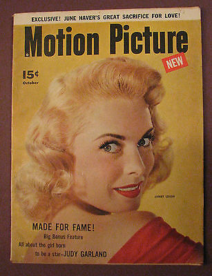 Motion Picture Magazine Oct.1954 Janet Leigh, Judy Garland, Grace Kelly