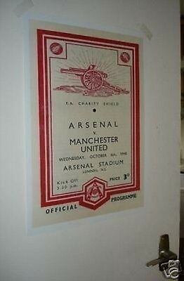 Arsenal Art Deco Poster Manchester United 1940's Repro POSTER