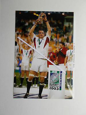 Rugby Union Photo - Martin Johnson With The Cup