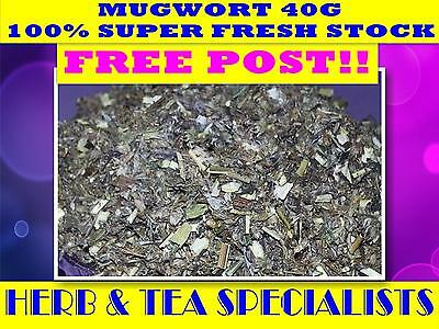 MUGWORT 40G TEA ☆ Artemisia vulgaris☆DRIED HERDY☆FRESH☆RELAX☆REMEDY☆ FREE POST