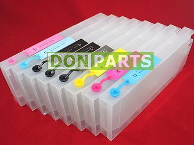8 x300ml Refillable Ink Cartridges For Epson Stylus Pro 7880 9880 CISS