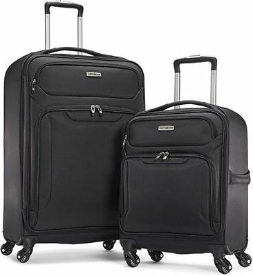 "Samsonite Ultralite Extreme Luggage Spinner Suitcase Softside 27"" & 21"" 2 Pieces"