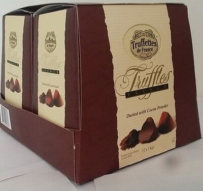 Truffettes De France French Truffles 2 x 1kg Sweets Chocolates Gift Box 2 Pack