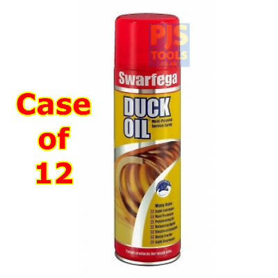 12 x Swarfega Duck Oil 500ml Spray Contect Maintenance Protect Water Displacer