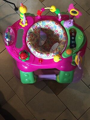 Baby Girls 3-in-1 Rocker Walker Activity Center Play Toys Sounds Rotating Seat