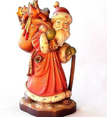 JOLLY ST. NICK  by ANRI of Italy Handcarved Limited Edition Woodcarving