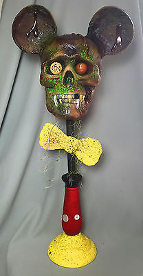 Zombie Mickey Mouse Sculpture Skull Perfectly Dreadful Halloween Paper  Mache