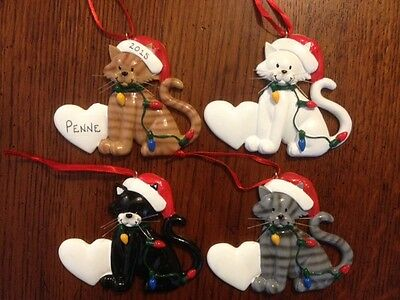 Personalized Cat with Lights Christmas Ornament