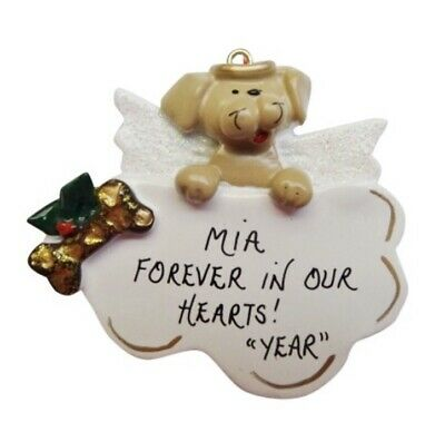 Personalized Dog Angel on Cloud Christmas Ornament