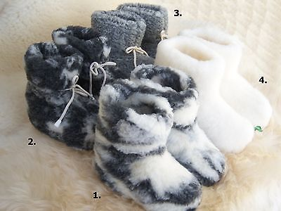 COZY FOOT, Womens/Mens Sheep Wool Sheepskin Slipper Boots Non-slipSOLE Size3-13