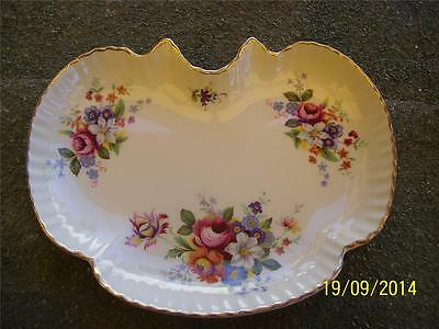 Old Foley James Kent Beautiful Tray / Dish Roses Floral Pattern