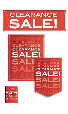61 Piece Single Sided Glossy Paper Clearance Sale Sign Kit