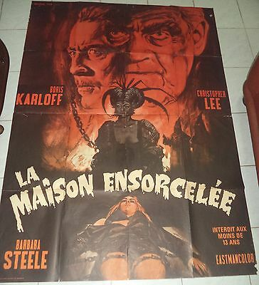 Curse Of The Crimson Altar 1968 Large French Poster Tigon/aip Karloff/lee