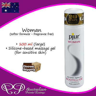 PJUR for Women - Fragrance Free Silicone based bodyglide Lubricant / lube 100ml