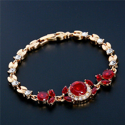 1pc Amazing Unique Elegant Women Austrian Crystal 18K gold Plated Bracelet