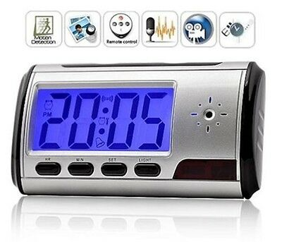 Orologio Sveglia Digitale Cam Spy Nascosta Micro Sd Multi Function Camera Clock