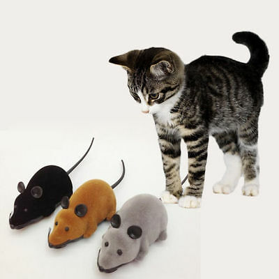 WOW  RC Electronic Wireless Mice Rat MouseToy For Cat Dog Pet Puppy Nice Lovely
