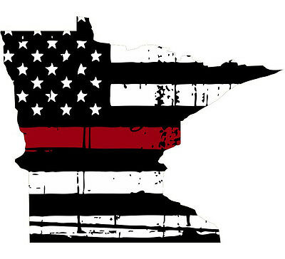 Thin RED line decal Various Sizes Spartan Head Vertical Tattered Flag Decal