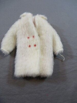 Vintage Original Barbie Skipper #1926 Chill Chasers White Faux Fur Jacket Coat