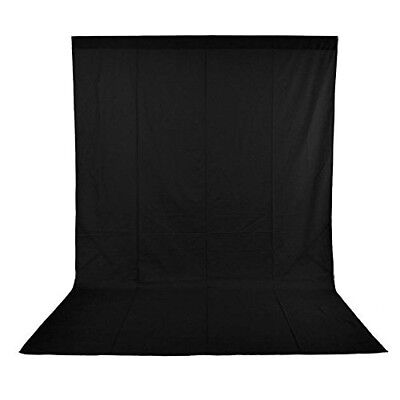 Phot-R 1.8 x 3m Photography Studio 100% Cotton Muslin Backdrop Background Black