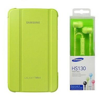 Book Cover Originale Sm-T210/sm-T211 Galaxy Tab 3 7.0 Verde + Hs130 In Blister