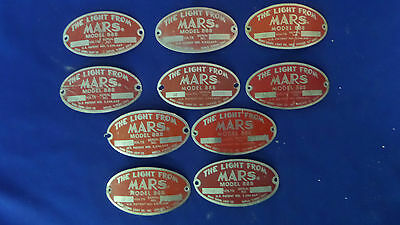MARS 888 Light Used Badges Assorted Lot of 10 Badges