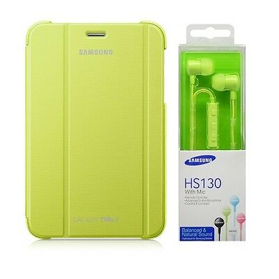 Book Cover Originale Gt-P3100/gt-P3110 Galaxy Tab 2 7.0 Verde + Hs130 In Blister