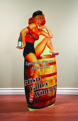 MAKE ME WINE ~ Retro Wineery Wood Advertising Sign ~ by PLD