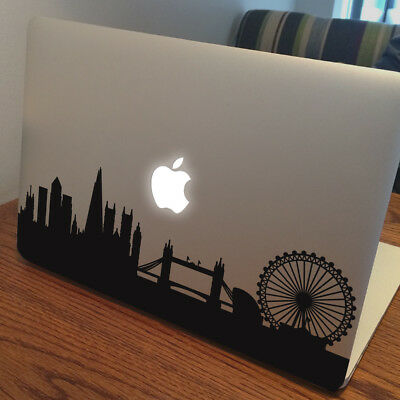 """LONDON SKYLINE Apple MacBook Decal Sticker fits 11"""" 13"""" 15"""" and 17"""" models"""