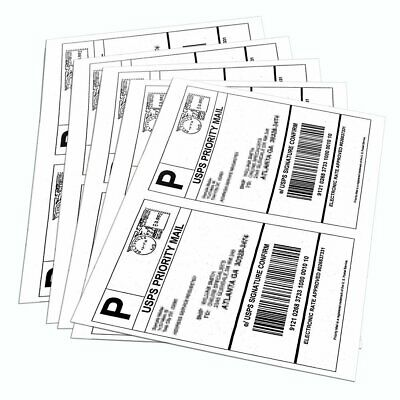 200-6000 Half Sheet 8.5x5.5 Shipping Labels Self Adhesive For Paypal USPS