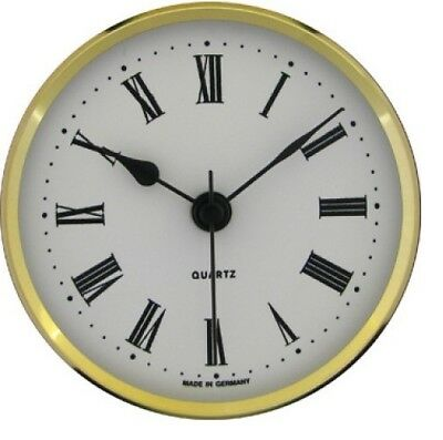 New Quartz Clock Insertion Movement 72mm Diameter Roman Numerals - CM534*