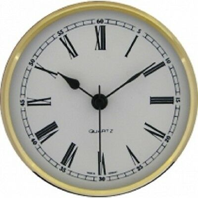 New Quartz Clock Insertion Movement 102mm Diameter Roman Numerals - CM538