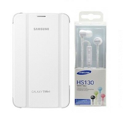 Book Cover Originale Sm-T210/sm-T211 Galaxy Tab 3 7.0 Bianco + Hs130 In Blister