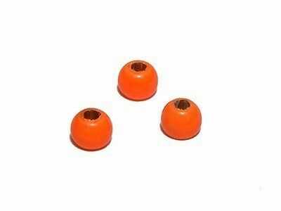 Tungsten Beads for heavy nymphs / Fluo Orange / *10pcs* /materiale montaggio