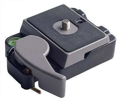 Phot-R 323 Quick Release Adapter Plate Adapter QR Tripod Head with Spirit Level
