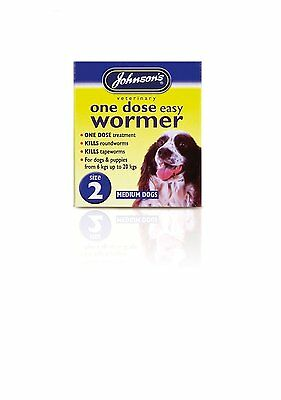 Johnsons One Dose Wormer For Dogs & Puppies Medium 6kg to 20kg