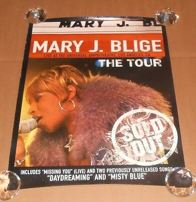 Mary J. Blige Live at the Universal Amphitheater LA Original Promo Poster 24x18