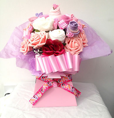 Baby Girl Gift Basket Clothes Bouquet Christening Gift Luxury Gift 10 Item