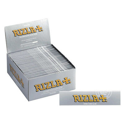 Rizla Silver Smoking Rolling Papers Kingsize Ultra Thin Slim Cigarette