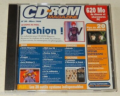 CdRom Magazine N°30 Mars 1998 620 Mo de démos & sharewares PC FASHION - Frogger