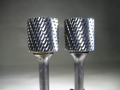"Lot ( 2 ) New Sgs 3/4"" Carbide Burs Deburring Aluminum Rotary Burr Tool Bits"