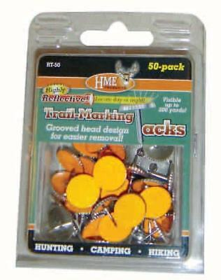 HME Products Trail Marker Tacks Metal Reflective Trail Markers 50ct. RT-50