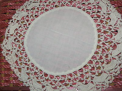 VINTAGE LOT OF 17 WHITE LACE CROCHET DOILIES VARIOUS SIZES HAND MADE