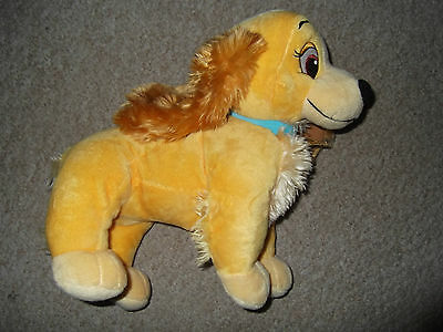 """ORIGINAL DISNEY STORE LADY soft toy PLUSH 12"""" in VGC from Lady and the Tramp"""