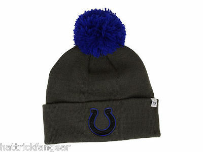 Indianapolis Colts  47 Brand Justus NFL Team Football Knit Hat Beanie 55aff8b0ed66
