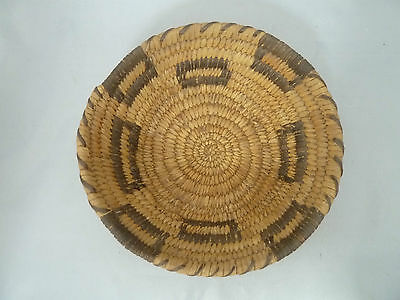 "Native American Weave Basket PIMA BOWL Very Nice Design. Approx 2.75""T x 7.5"" W"