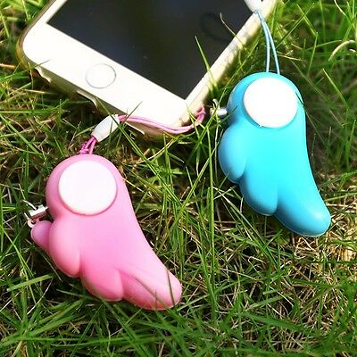 1x Angel Wings Woman Anti-rape Device Alarm Anti-wolf Alert Self Defense GSE